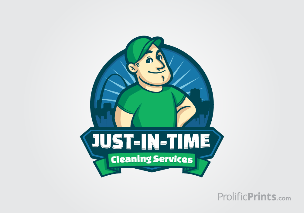 Just In Time Cleaning Services Logo Design