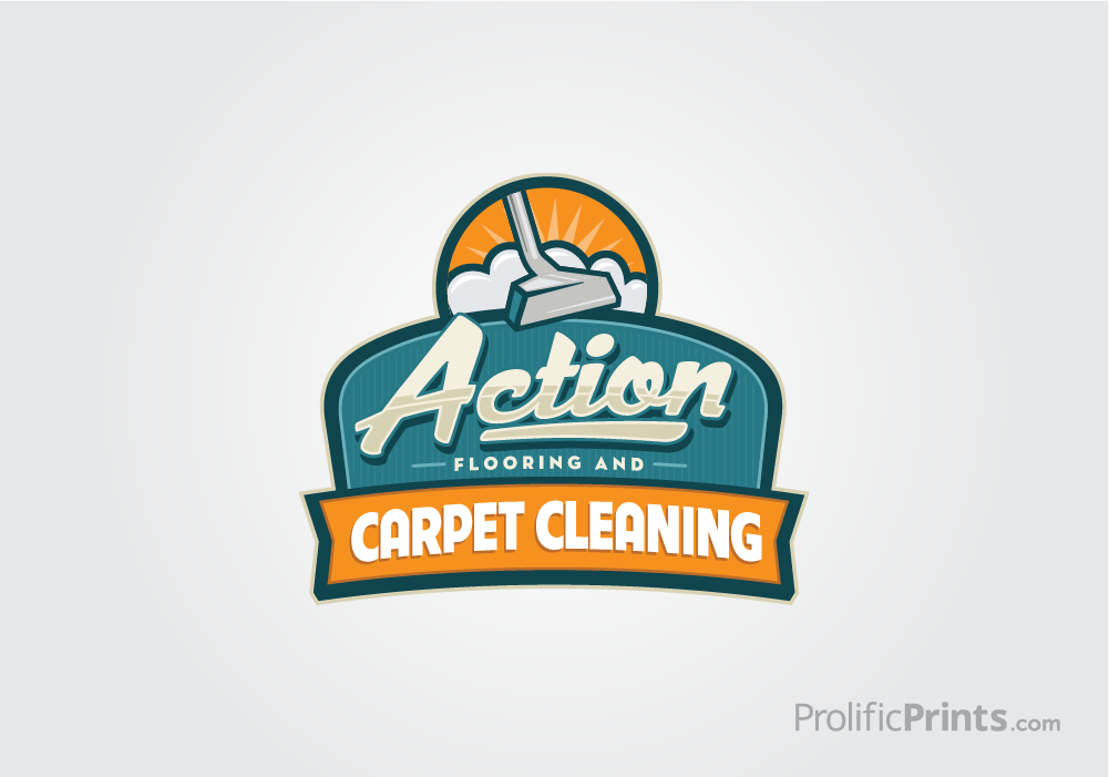action carpet cleaning logo design prolificprints com